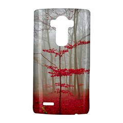 Magic Forest In Red And White Lg G4 Hardshell Case by wsfcow