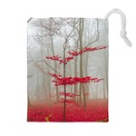 Magic forest in red and white Drawstring Pouches (Extra Large) Front