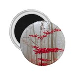 Magic Forest In Red And White 2.25  Magnets