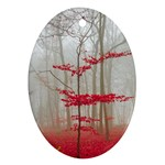 Magic Forest In Red And White Ornament (Oval)  Front