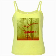 Magic Forest In Red And White Yellow Spaghetti Tank by wsfcow