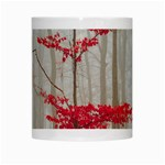 Magic Forest In Red And White White Mugs Center