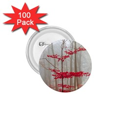 Magic Forest In Red And White 1 75  Buttons (100 Pack)