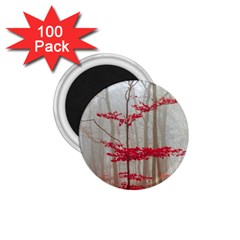 Magic Forest In Red And White 1 75  Magnets (100 Pack)  by wsfcow