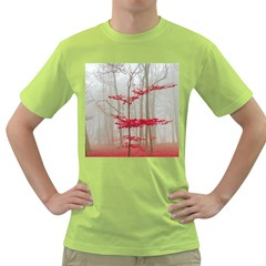 Magic Forest In Red And White Green T Shirt