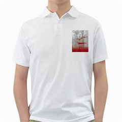 Magic Forest In Red And White Golf Shirts by wsfcow