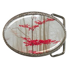 Magic Forest In Red And White Belt Buckles by wsfcow