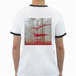 Magic Forest In Red And White Ringer T-Shirts Back