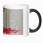 Magic Forest In Red And White Morph Mugs Right