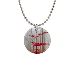 Magic Forest In Red And White Button Necklaces by wsfcow