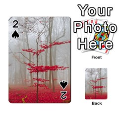 Magic Forest In Red And White Playing Cards 54 Designs  by wsfcow