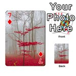 Magic Forest In Red And White Playing Cards 54 Designs  Front - Diamond7