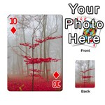 Magic Forest In Red And White Playing Cards 54 Designs  Front - Diamond10