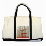 Magic Forest In Red And White Two Tone Tote Bag Front