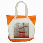 Magic Forest In Red And White Accent Tote Bag