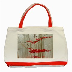 Magic Forest In Red And White Classic Tote Bag (red)