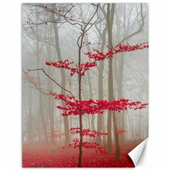 Magic Forest In Red And White Canvas 18  X 24   by wsfcow