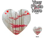 Magic Forest In Red And White Playing Cards 54 (Heart)  Front - Heart6