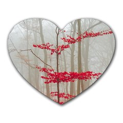 Magic Forest In Red And White Heart Mousepads by wsfcow