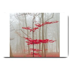 Magic Forest In Red And White Large Doormat  by wsfcow