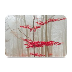 Magic Forest In Red And White Plate Mats by wsfcow