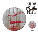 Magic Forest In Red And White Multi-purpose Cards (Round)  Back 16