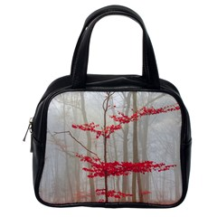 Magic Forest In Red And White Classic Handbags (one Side) by wsfcow