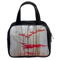 Magic Forest In Red And White Classic Handbags (2 Sides) by wsfcow