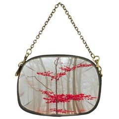 Magic Forest In Red And White Chain Purses (one Side)  by wsfcow