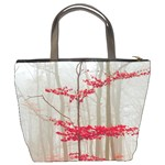 Magic Forest In Red And White Bucket Bags Back
