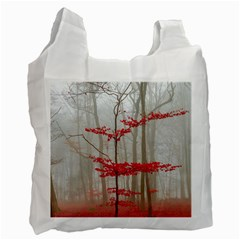 Magic Forest In Red And White Recycle Bag (two Side)  by wsfcow