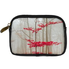 Magic Forest In Red And White Digital Camera Cases
