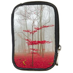 Magic Forest In Red And White Compact Camera Cases by wsfcow