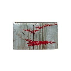 Magic Forest In Red And White Cosmetic Bag (small)  by wsfcow