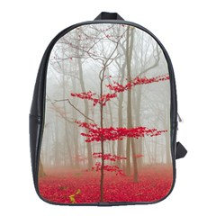 Magic Forest In Red And White School Bags(large)  by wsfcow