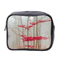 Magic Forest In Red And White Mini Toiletries Bag 2 Side