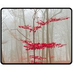 Magic Forest In Red And White Fleece Blanket (Medium)
