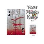 Magic Forest In Red And White Playing Cards 54 (Mini)  Front - SpadeA