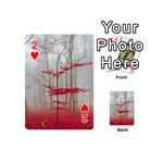 Magic Forest In Red And White Playing Cards 54 (Mini)  Front - Heart2