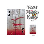 Magic Forest In Red And White Playing Cards 54 (Mini)  Front - Spade4