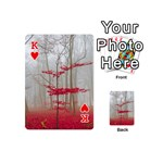 Magic Forest In Red And White Playing Cards 54 (Mini)  Front - HeartK