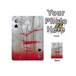 Magic Forest In Red And White Playing Cards 54 (Mini)  Front - Spade6