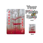 Magic Forest In Red And White Playing Cards 54 (Mini)  Front - Joker2