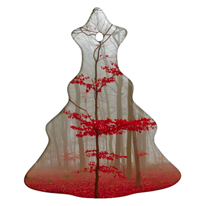 Magic Forest In Red And White Ornament (Christmas Tree)