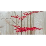 Magic Forest In Red And White Happy Birthday 3D Greeting Card (8x4) Back