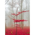Magic Forest In Red And White Birthday Cake 3D Greeting Card (7x5) Inside