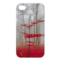 Magic Forest In Red And White Apple Iphone 4/4s Hardshell Case by wsfcow
