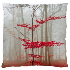 Magic Forest In Red And White Large Cushion Case (one Side) by wsfcow