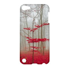 Magic Forest In Red And White Apple Ipod Touch 5 Hardshell Case by wsfcow