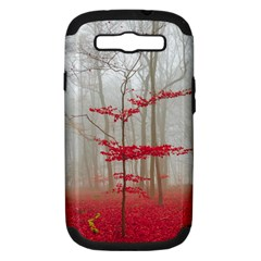 Magic Forest In Red And White Samsung Galaxy S Iii Hardshell Case (pc+silicone) by wsfcow